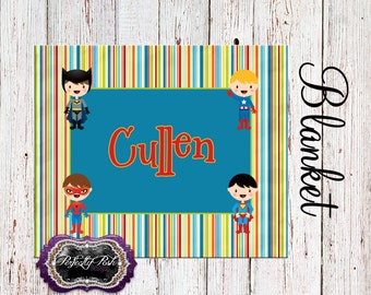 Personalized Super Hero Blanket