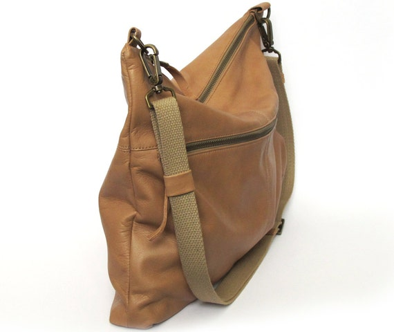 Tan nude leather bag soft leather purse SALE crossbody bag