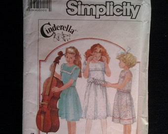 Simplicity 8036 Vintage Girls Dress Sewing Pattern Incomplete
