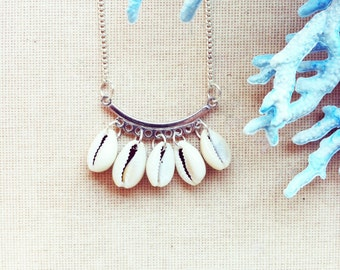 Real Seashell Necklace - Bohemian Necklace Nautical Jewelry Layer Necklace Summer Necklace Fashion Necklace Summer Fashion FREE SHIPPING