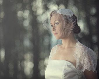 Chantilly Lace Bridal Bolero Jacket--wedding shrug, available in white, ivory or black