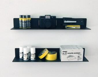 13-Gauge Wall Shelf - Black
