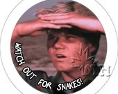 Rifftastic  MST3K inspired pinback buttons / stickers Eegah Watch Out for Snakes