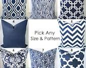 Pillows Navy Blue Decorative Throw Pillows Dark Blue Chevron Throw Pillow Covers All Sizes 18x18 16 20 Euro Shams