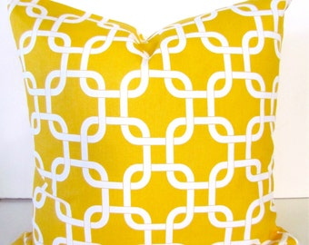 PILLOW Yellow Decorative Pillows Yellow Throw Pillow Covers 16 18x18 20 .All Sizes. Yellow Nautical Pillow Covers Yacht  .Sale. Contemporary