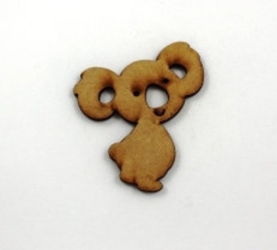 Lasercut Craft Wood Koala– Set of 2. 65 mm Wide Koala. Made of Craft Wood Perfect for Embellishing, Wood Crafts