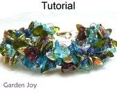 Beading Tutorial Pattern Bracelet Necklace - Fringe Stitch - Simple Bead Patterns - Garden Joy #1707