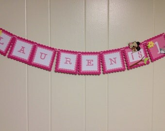 Name Banner/1st Birthday/Happy Birthday Age Banner/Woodland/Forest/Critter