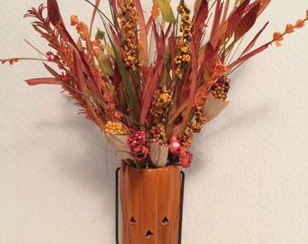 Fall Bouquet in a Pumpkin Vase