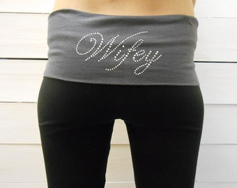 Wifey Yoga Pants. Bride Yoga Pants. Custom Wifey Yoga Pants. Wifey Sweatpants. Bridal Sweatpants. Just Married Yoga Pants. Wifey Pants.