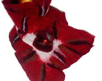 Nuno felted scarf, Nuno scarf, felted scarf, wool felted scarf, winter scarf, winter accessories, merino wool scarf