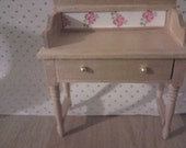 Wooden washstand dresser writing desk  miniature furniture