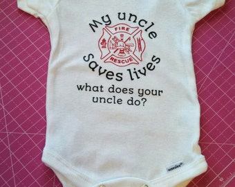 Personalized Fire Fighter Onesie for Baby