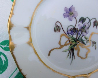 Child's Tea Serving Plate, French, Hand Painted