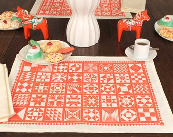 "Set of 4  ""Quilt Legacy"" Placemats designed by Isabel Natti"