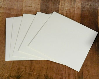 """20 blank cards, 80# Antique linen cover, 4 3/4 inch square, 4.75"""" square cards - Natural - 2026"""