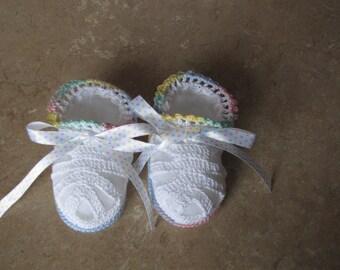 Little Pastel Baby Booties