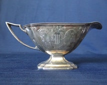 Gorgeous Pairpoint Etched Gravy Boat - Beautiful Art Deco Style