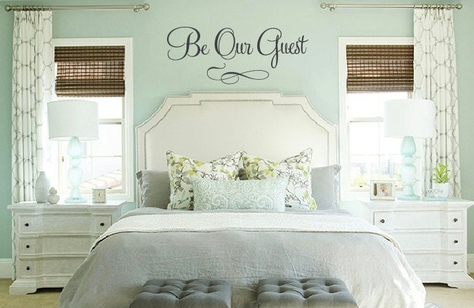 Guest Room Decor lg xl or xxl be our guest saying vinyl decal wall art