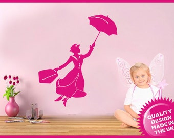 Mary Poppins vinyl wall decal sticker (medium)