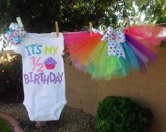 It's My 1/2 Birthday Outfit --Customizable to your theme --FREE SHIPPING