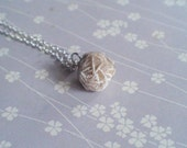 Silver Wire Wrapped Selenite Desert Rose Necklace