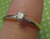 14k Gold Ring Diamond Solitaire Engagement Ring Wedding Band Bride Groom Promise Eternity