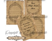 Digital Vintage Labels, Digital Cards and Printable Tags, Clothing Soaps and Lotion Labels, Digital Scrapbook Supplies. No. 509