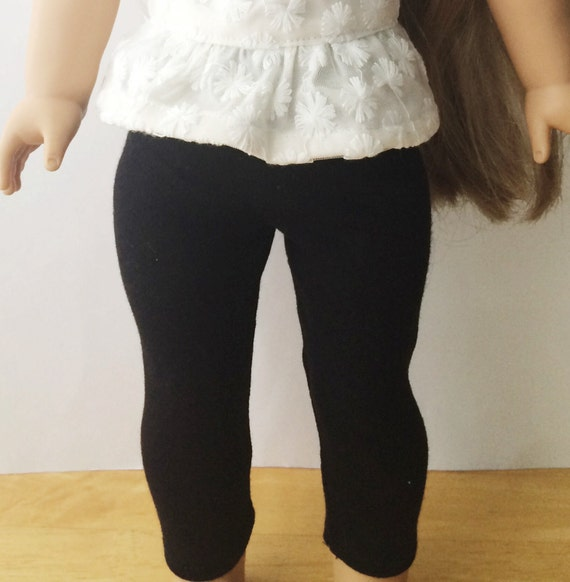 "American Girl 18"" Doll Clothes Black Stretch Leggings"