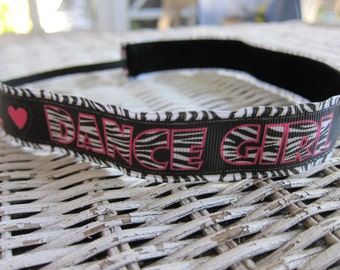 Dance Girl Headband - Dance Zebra Headband