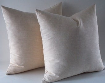 Set of 2 / Natural Linen Pillow Cover,Rav Linen, Pure Linen Pillows, Linen Throw pillow, Decorative Pillow cover