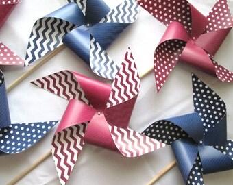 Paper Pinwheels Wedding Pinwheel  XL Size Pinwheel Custom Paper Pinwheels Custom Wedding Pinwheels Twirling Pinwheels Spinning Pinwheels