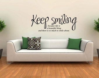 Wall sticker -  Keep smiling (3451n)