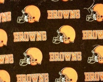 Hand Crafted  Cleveland Browns Print Pillow - Cuddleprint