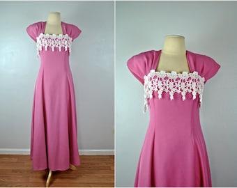 Pink Party Dress, Vintage Party Dress, Vintage Pink Dress