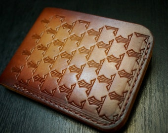 LeatherLegion Ateliers stamped bi-fold wallet