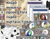 Wizard's Monopoly Harry Potter - Digital Download Bundle, All Items (Board, Money, Cards and Instructions)