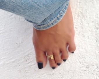 TRAVELER CUFF Toe Ring // Sterling Silver Toe Ring, Gold Toe Ring, Rose Gold Toe Ring