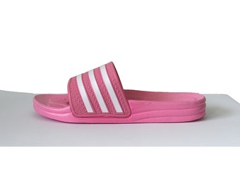 90s baby pink scuff sandals
