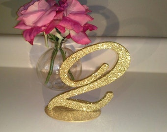 Edwardian Glittered Table Numbers for Weddings and Events