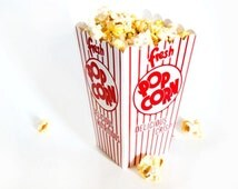 Retro Popcorn Box (Set of 40) - Perfect Favor Bags for Carnival or Circus Party with Printable Party Invitation Kit and Label Stickers