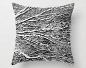 Snow Pillow, Winter Photo, Snow Photo, Winter Pillow Cover, Snow Pillow Case, Winter Throw Pillow, Snow Pillow Cover, Winter Toss Pillow