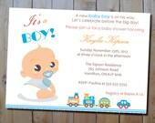 "Baby Shower Invitation - ""It's a Boy"" Blue Printable Baby Shower Invitation"