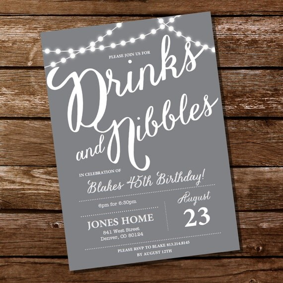Gray birthday party invitation 16th 21st 25th 30th 40th 50th 60th il570xn filmwisefo