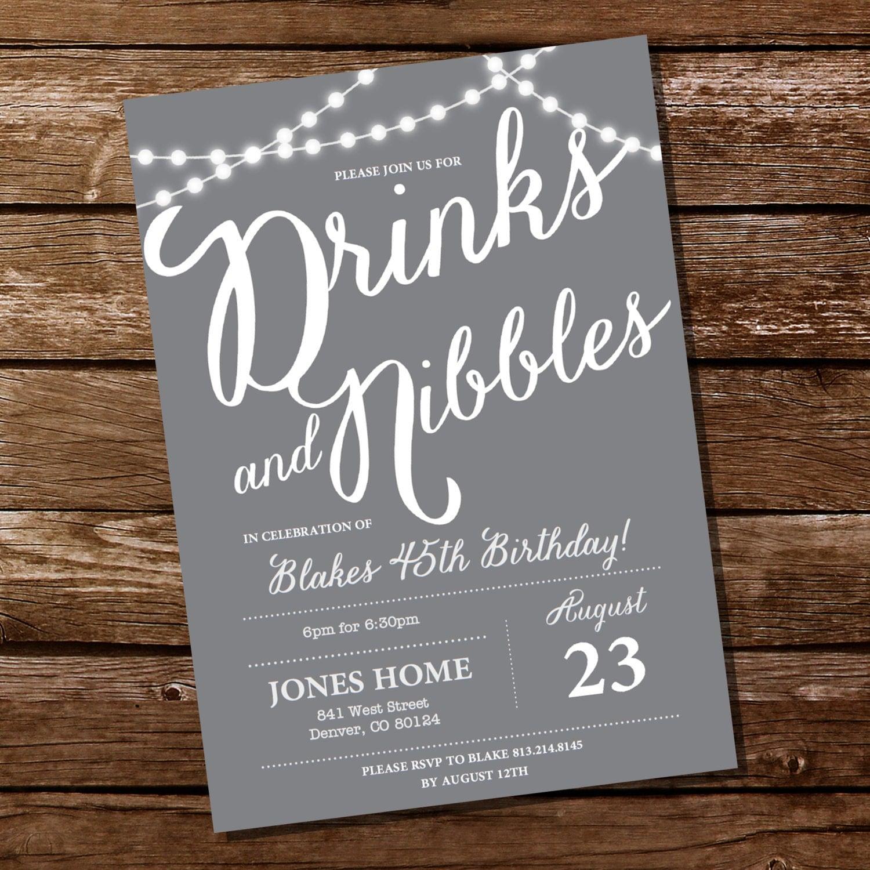 Gray Birthday Party Invitation th st th th th
