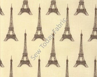 Eiffel Tower on Cream - I Dream of Paris Collection - Windham Fabrics 36379-3 (sold by the 1/2 yard)