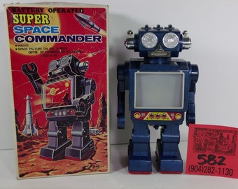 1970's SH Super Space Commander Robot in box