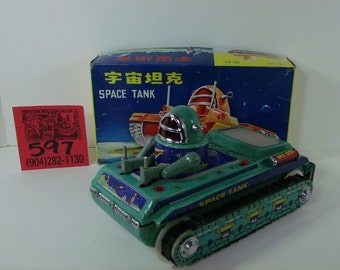 1960's Space tank with box and inserts