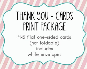 Thank You cards - PRINTED, Envelopes inlcuded