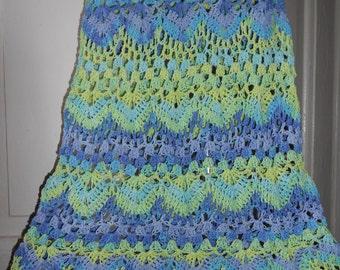 CottonSkirt Long Long Skirt Cotton Crochet Skirt Long Foget-Me-Not  FREE SHIPPING